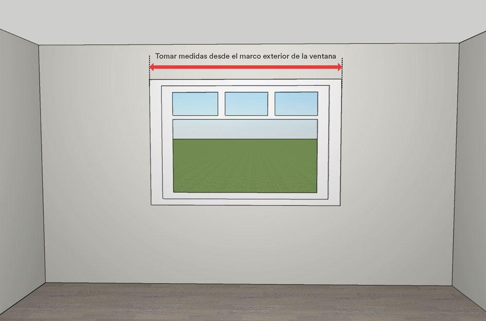 Cómo medir estores - mediciones de ancho de ventana