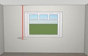 Cómo medir estores - mediciones para soporte a techo