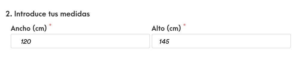 Cómo medir estores - mediciones para colocar en estoramedida