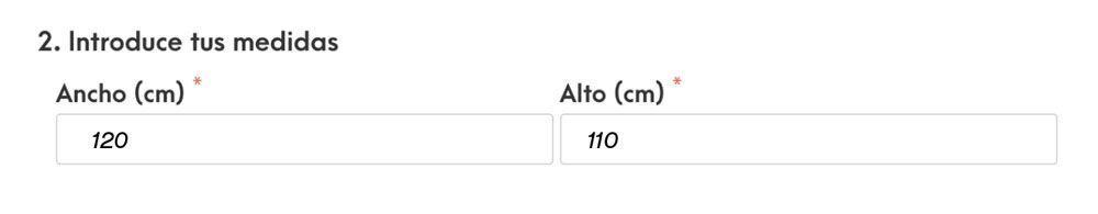 Cómo medir estores - mediciones para colocar en la web