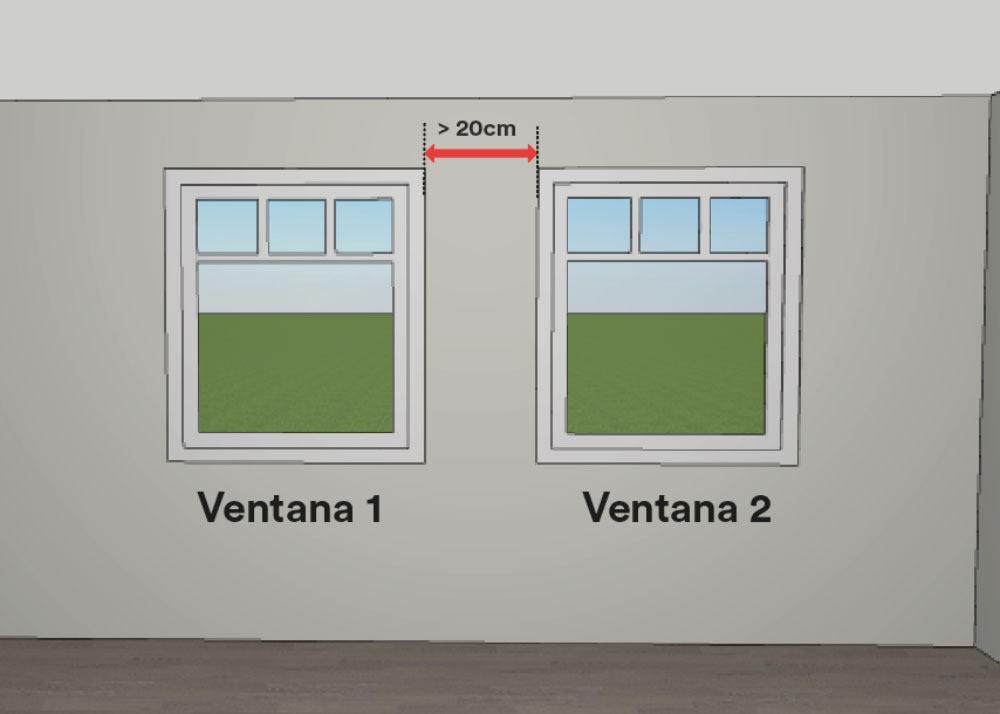 Cómo medir estores - mediciones entre ventanas
