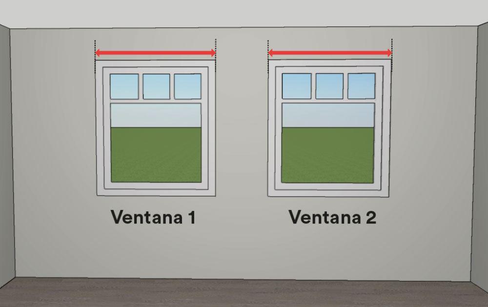 Cómo medir estores - mediciones de ancho de las ventanas
