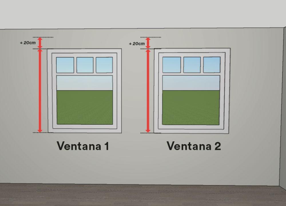Cómo medir estores - mediciones de alto de las ventanas