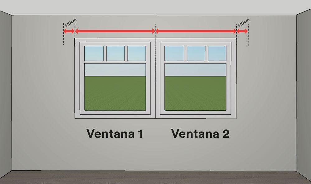 Cómo medir estores - mediciones del ancho de las ventanas