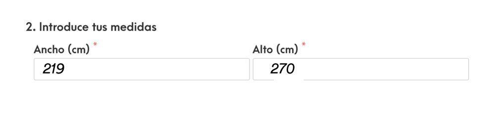 Cómo medir estores - colocar las medidas en la web