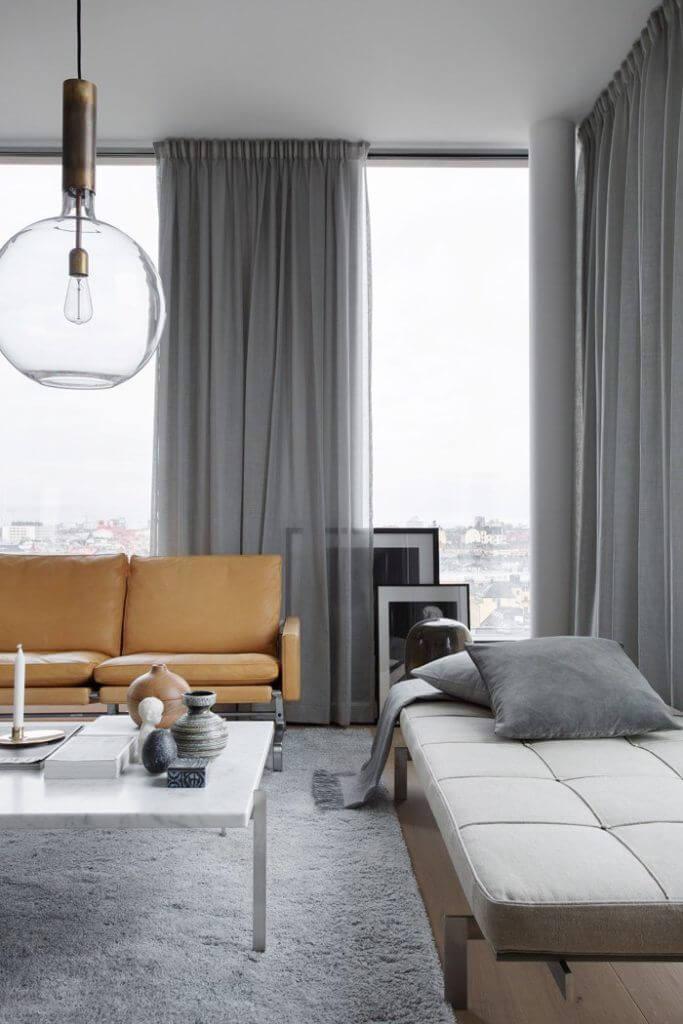 Cortinas modernas para el salón en 2019