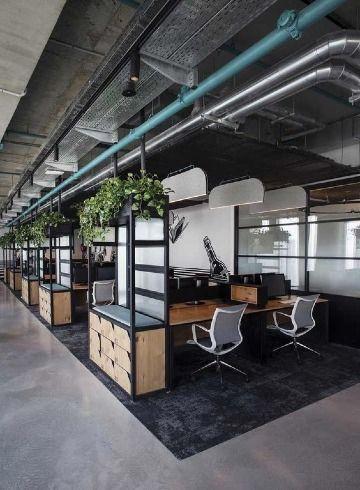 oficinas modernas oscuras