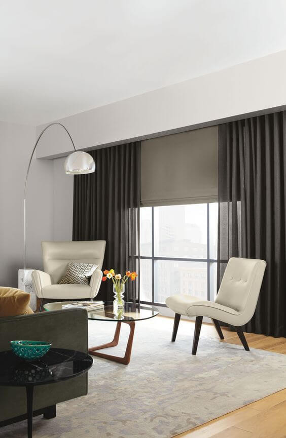 Ideas originales para cortinas y estores para el salón
