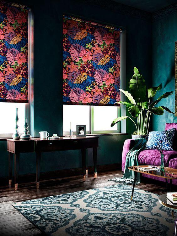 estores y cortinas salón